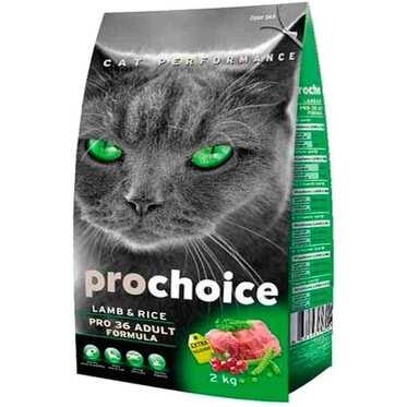 Pro Choice - Prochoice Pro 36 Kuzulu Ve Pirinçli Düşük Tahıllı Yetişkin Kedi Maması 2 Kg.