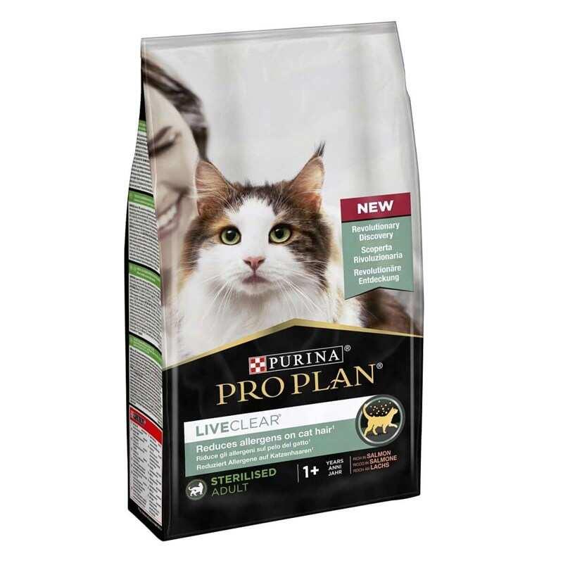 Pro Plan - Pro Plan LiveClear Somonlu Alerjen Azaltan Kısırlaştırılmış Kedi Maması 1,4 Kg.