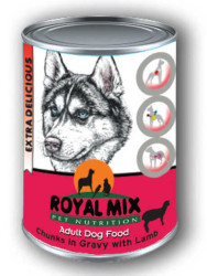 Royal Mix - Royal Mi X Kuzu Etli Köpek Konservesi 415 Gr