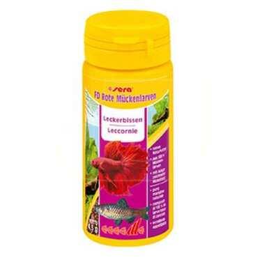 Sera - Sera Fd Bloodworms Rote Mückenlarven (Kan Kurdu-Kırmızı Sinek Larvası) 50 Ml