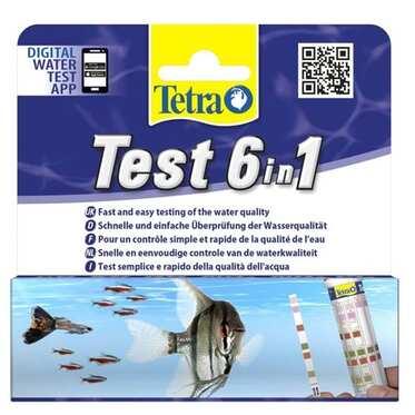 Tetra - Tetra Test 6 in 1 Tatlı Su Stip (Stick) 25 Adet