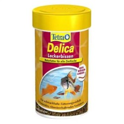 Tetra - Tetra Delica Bloodworms 100 Ml / 8Gr