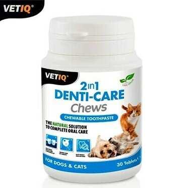 VetIQ - Vetıq 2 İn 1 Denti-Care Chews Çiğnebilir Diş Macunu 30 Tablet
