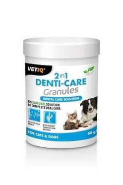 VetIQ - Vetıq 2İn1 Denti-Care Plak Sökücü Granules 60 Gr.