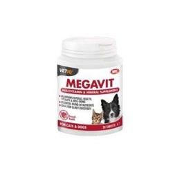 VetIQ - Vetıq Megavit Köpek Ve Kediler İçin Multivitamin Ve Mineral Desteği 30 Tbl