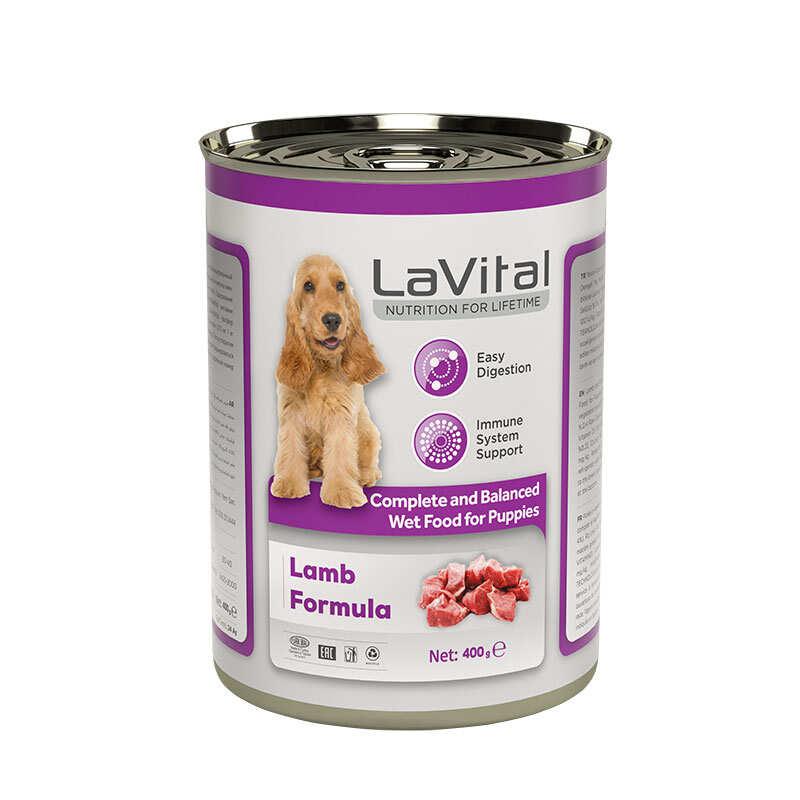 LaVital - Yavru Köpekler İçin Kuzu Etli & Pirinçli Püre / Yavru Köpekler İçin Tam Ve Dengeli Yaş Mama 400 Gr.